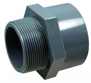 "PVC-U  Übergangsmuffe PN10 (Klebemuffe x Außengewinde) 63 x 2"""