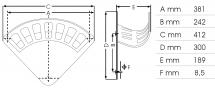 Schlauchhalter Größe XL