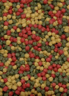 Velda 3 colour pellet food 440 g 1250 ml teichundgarten24 for Goldorfen futter