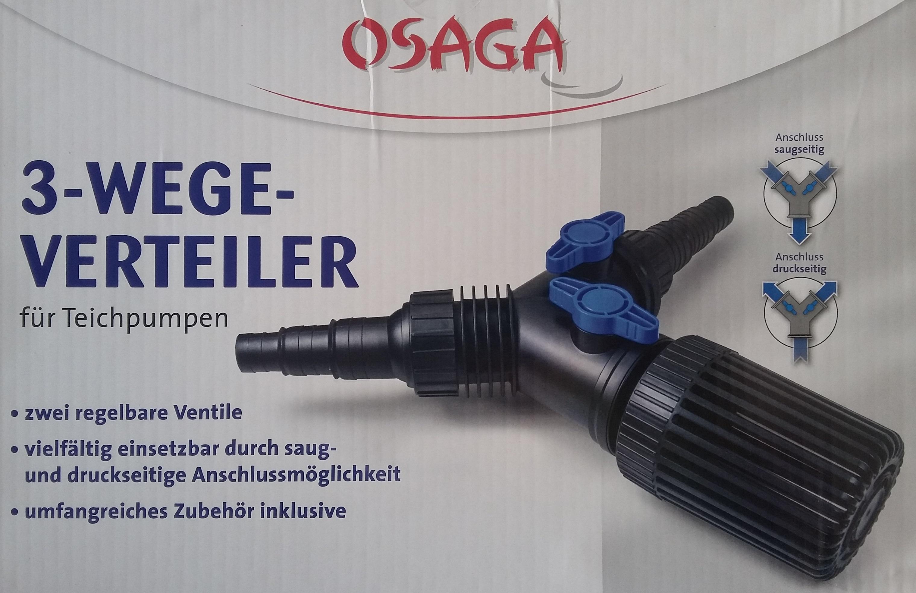 OSAGA 3-Wege-Verteiler für Teichpumpen